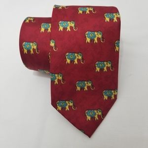 Other - 🔥 CLEARANCE 🔥 Asian Elephant Silk Tie Red Aqua